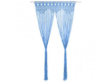Macramé závěs modrý 140 x 240 cm bavlna