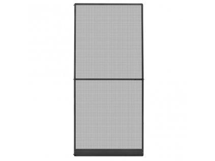 Dveřní síť proti hmyzu s panty antracitová 100 x 215 cm