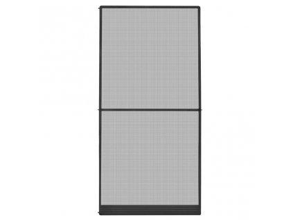 Dveřní síť proti hmyzu s panty antracitová 120 x 240 cm