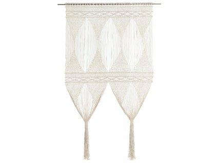 Macramé závěs 140 x 240 cm bavlna