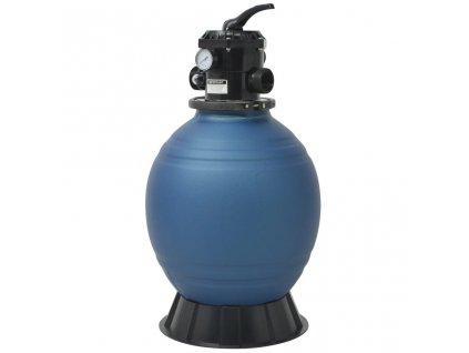 Bazénová písková filtrace s 6polohovým ventilem modrá 460 mm