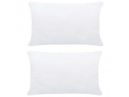 Polštářové výplně 2 ks 70 x 50 cm bílé