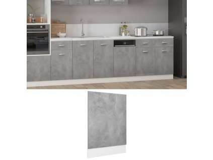 Panel na myčku betonově šedý 45 x 3 x 67 cm dřevotříska