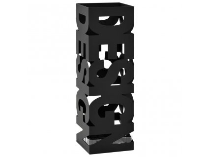 Stojan na deštníky Design ocelový černý