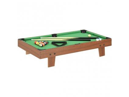 Mini kulečníkový stůl 92 x 52 x 19 cm hnědý a zelený