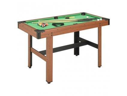 Kulečníkový stůl 122 x 61 x 76 cm hnědý