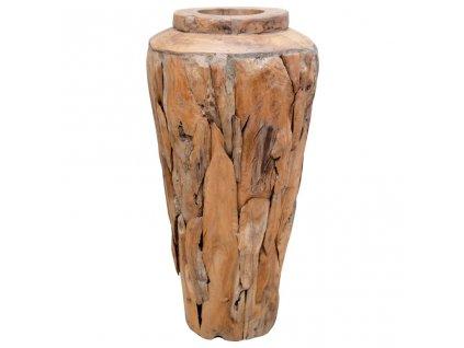 Dekorativní váza 40 x 60 cm masivní teakové dřevo