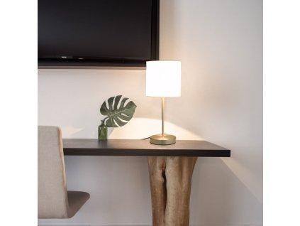 Stolní lampy 2 ks dotykové tlačítko bílé E14