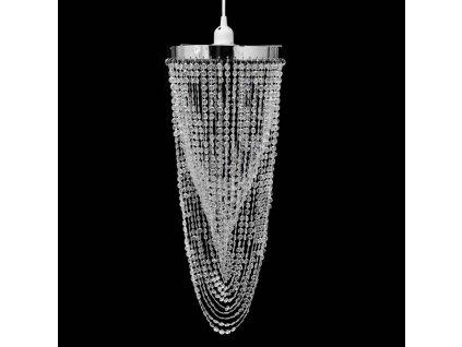 Křišťálový lustr - 22 x 58 cm