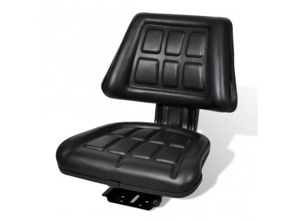 Traktorová sedačka s opěradlem černá