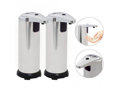 Automatické dávkovače mýdla 2 ks infračervené čidlo 600 ml