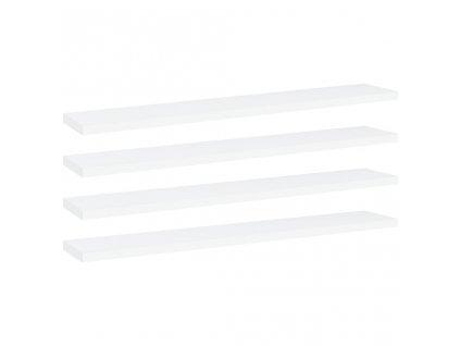 Přídavné police 4 ks bílé 60 x 10 x 1,5 cm dřevotříska