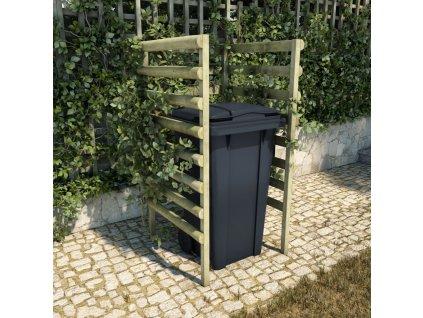 Přístřešek na popelnici zelený 70x80x150cm impregnace borovice