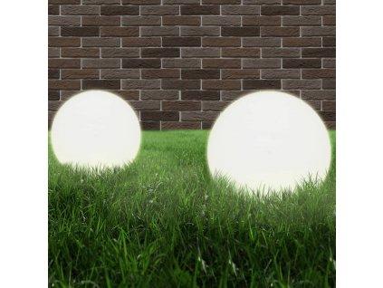 Kulovité LED lampy 2 ks koule 40 cm PMMA