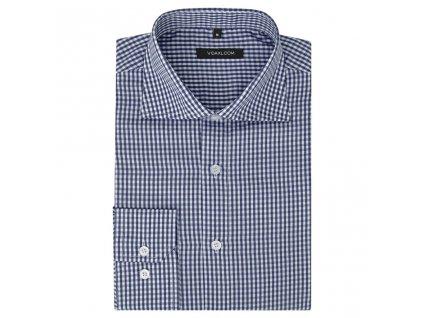 Pánská business košile bílá/námořnická modrá kostka vel. S