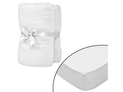Napínací prostěradla do kolébky 4ks bavlna jersey 40x80 cm bílá