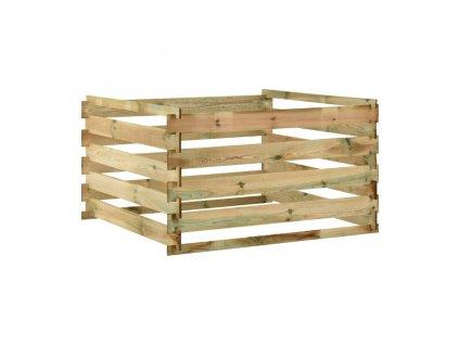 Laťkový zahradní kompostér 120x120x70 cm impregnované borovice