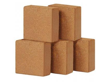 Lisované kokosové vlákno 5 ks 5 kg 30 x 30 x 10 cm