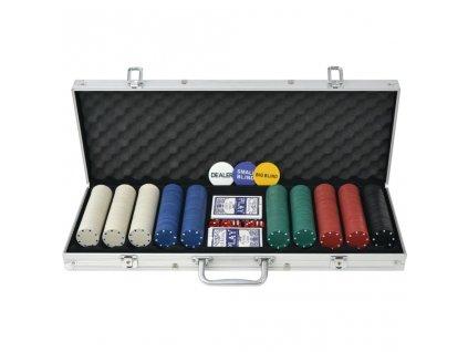 Poker set s 500 žetony z hliníku