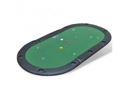 Skládací deska na poker pro 10 hráčů zelená