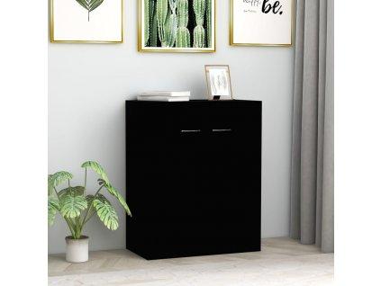 Příborník černý 60 x 30 x 75 cm dřevotříska