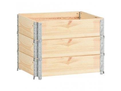 Paletové nástavce 3 ks 60 x 80 cm masivní borové dřevo