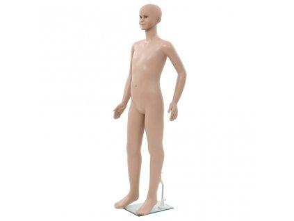 Dětská figurína celá postava základna ze skla béžová 140 cm