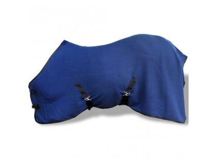 Fleecová deka s obřišníkem 145 cm modrá