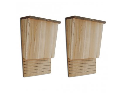 Budky pro netopýry 22 x 12 x 34 cm, sada 2 ks