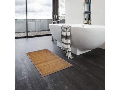 Bambusové koupelnové předložky 2 ks 60 x 90 cm hnědé
