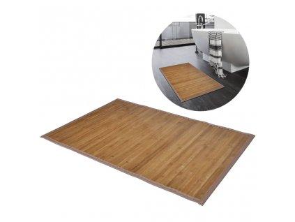 2 ks bambusových koupelnových předložek 40x50 cm hnědá