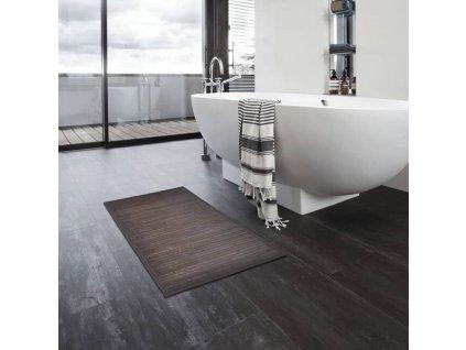 Bambusové koupelnové předložky 4 ks 40 x 50 cm tmavě hnědé