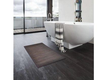 Bambusové koupelnové předložky 8 ks 40 x 50 cm tmavě hnědé