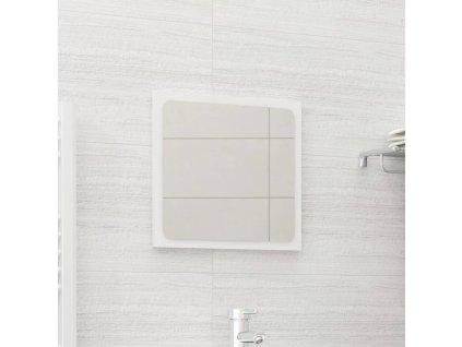 Koupelnové zrcadlo bílé vysoký lesk 40x1,5x37 cm dřevotříska
