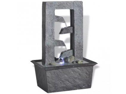 Interiérová fontánka s LED osvětlením, polyresin