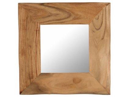 Kosmetické zrcátko 50 x 50 cm masivní akáciové dřevo