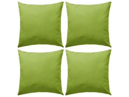 Venkovní polštářky 4 ks 45x45 cm jablkově zelená
