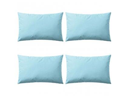 Venkovní polštáře 4 ks 60x40 cm světle modrá