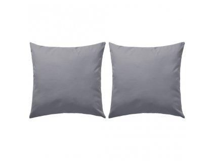 Venkovní polštářky 2 ks 45x45 cm šedé