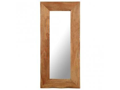 Kosmetické zrcadlo 50 x 110 cm masivní akáciové dřevo
