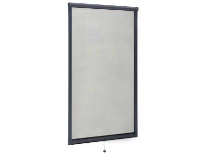Rolovací okenní síť proti hmyzu hliník antracitová 90 x 170 cm