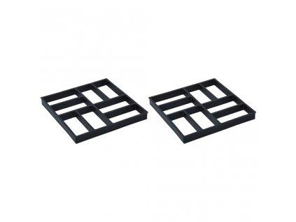 Formy na dlažbu 2 ks 40 x 40 x 4 cm plast