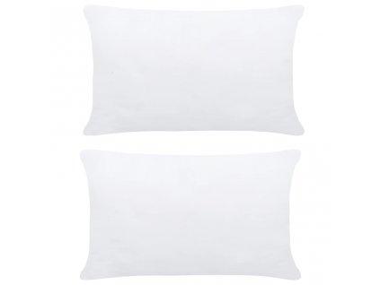 Polštářové výplně 2 ks 50 x 30 cm bílé