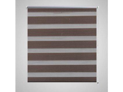 Roleta den a noc / Zebra / Twinroll 120x175 cm kávová