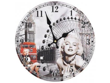 Vintage nástěnné hodiny 30 cm Marilyn Monroe