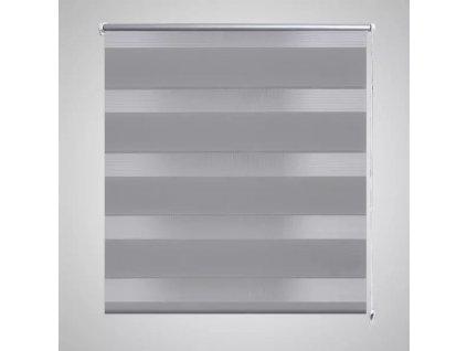 Roleta den a noc / Zebra / Twinroll 40x100 cm šedá