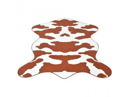 Tvarovaná rohož 70x110 cm potisk kráva hnědá