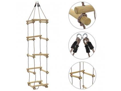 Dětský provazový žebřík 200 cm dřevo