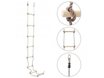 Dětský provazový žebřík 290 cm dřevo