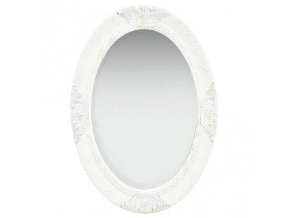 Nástěnné zrcadlo barokní styl 50 x 70 cm bílé